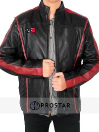 REAL LEATHER N7 MASS EFFECT JACKET-Front