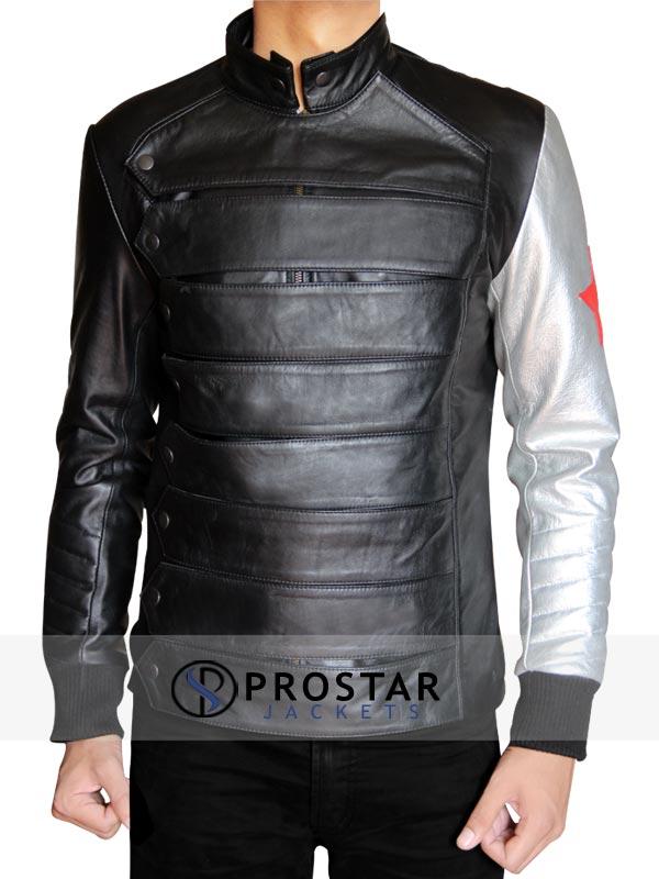 Silver Armour Sebastian Stan Bucky Barnes Jacket-front