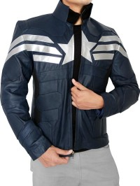 The Winter Soldier Captain America Jacket-side-pose