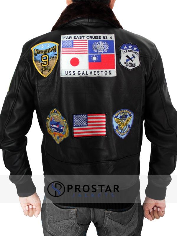 Tom Cruise Top Gun JacketTom Cruise Top Gun Leather Jacket