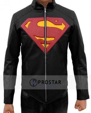 SUPERMAN BLACK MAN OF STEEL JACKET