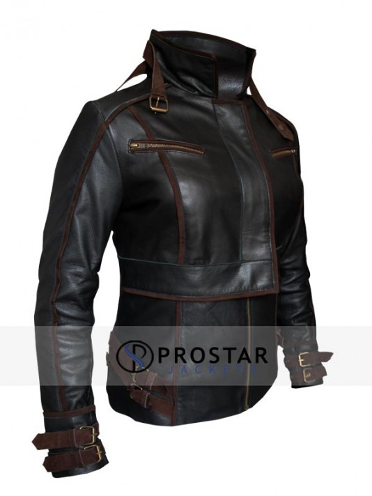 Total Recall Jessica Biel Leather Jacket
