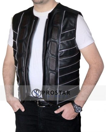 Dark Matter Vest Leather Jacket