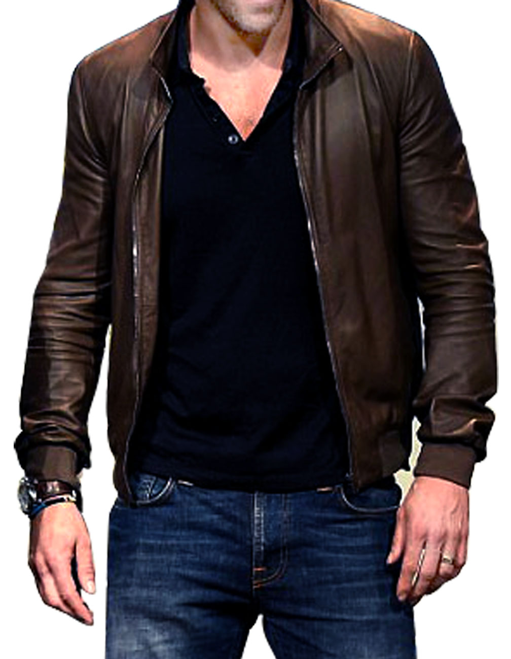 Brown Colored Ryan Reynolds Leather Jacket - ProStarJackets