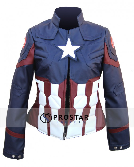 Captain America Jacket for Women Civil War