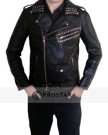 Justin Bieber Black Leather Jacket