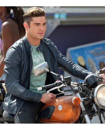 Baywatch Zac Afron Leather Jacket