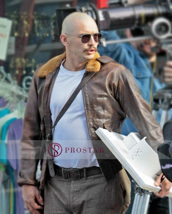 Zeroville James Franco Brown Fur Jacket