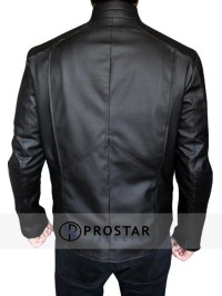 Black Christian Bale Batman Begins Jacket-back