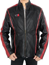 REAL LEATHER N7 MASS EFFECT JACKET-feed