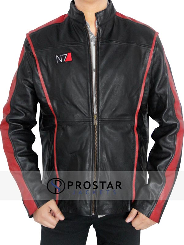 REAL LEATHER N7 MASS EFFECT JACKET-side