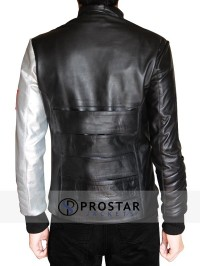 Silver Armour Sebastian Stan Bucky Barnes Jacket-back