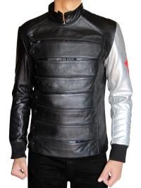 Silver Armour Sebastian Stan Bucky Barnes Jacket-feed