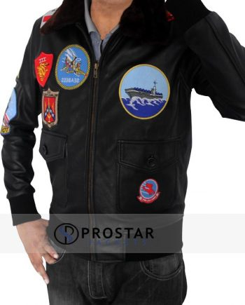 Tom Cruise Top Gun Jacket-side