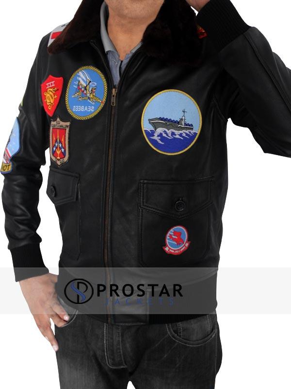Tom Cruise Top Gun Jacket-side