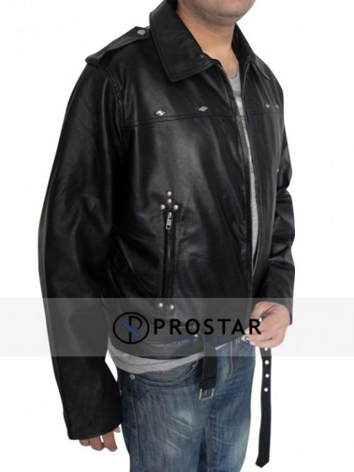 A LONG WAY DOWN AARON PAUL LEATHER JACKET
