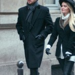 Aaron Paul With Lauren Parsekian Coat