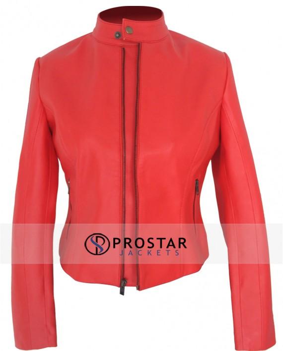 Elizabeth Olsen Leather Jacket