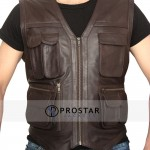 Movie Chris Pratt Jurassic World Leather Vest