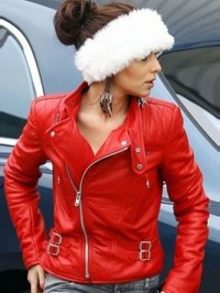 CHERYL COLE SANTA CLAUS INSPIRED JACKET