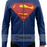 Man of Steel Blue Superman Leather Jacket