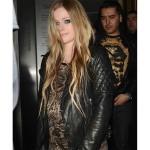 Black Motorcycle Avril Lavigne Leather Jacket
