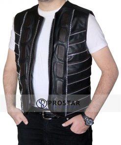 Dark Matter Vest Leather Jacket