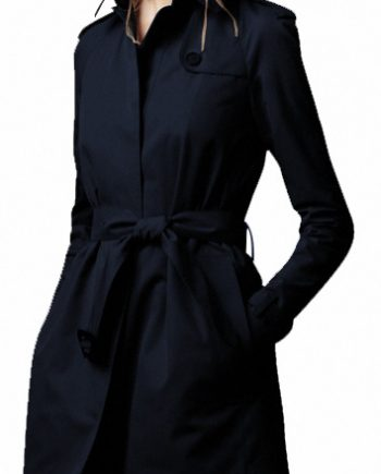 Women Long Wool Black Winter Coat for women