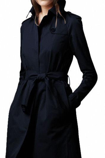 Women Long Wool Black Winter Coat for women