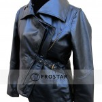 The Hunger Games Catching Fire Black Leather Jacket