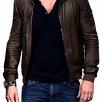 Brown Colored Ryan Reynolds Leather Jacket