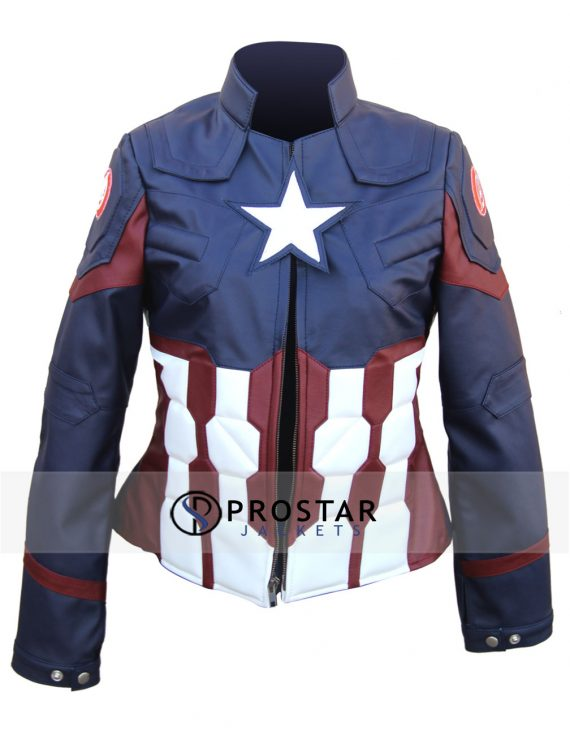 Captain America Jacket for Women Civil War