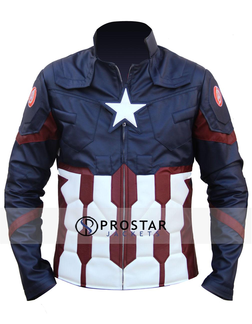 Civil War Captain America Jacket Prostarjackets
