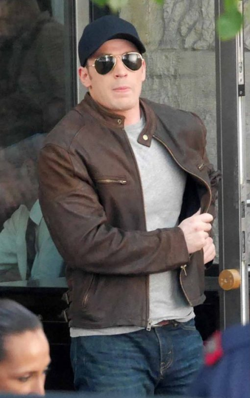 Civil War Steve Rogers Brown Jacket