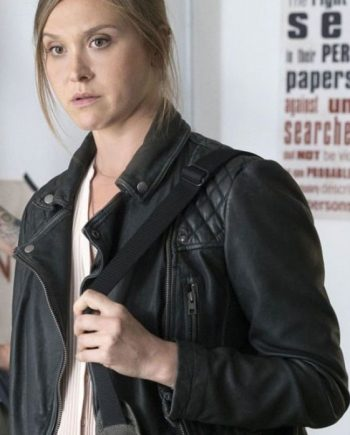 Sarah Sokolovic leather jacket
