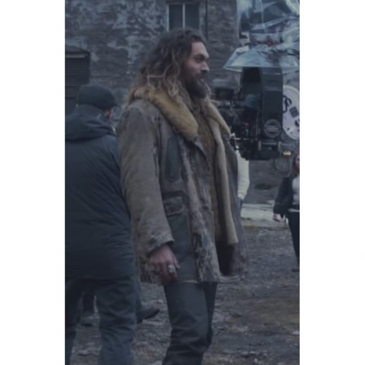 Aquaman Leather Coat From Justice League Movie
