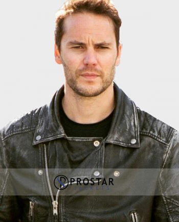 Taylor Kitsch Leather Jacket from American Assassin