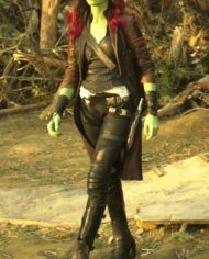 Guardians of the Galaxy Gamora Leather Coat