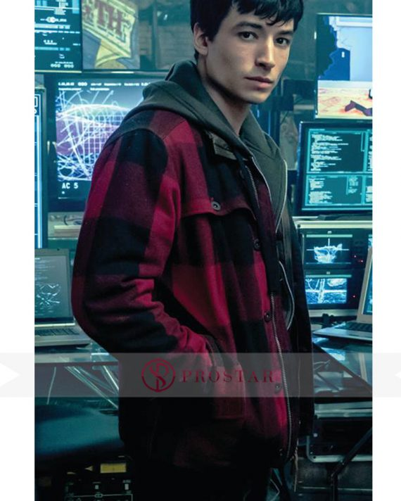 Red and Black Barry Allen Justice League Jacket