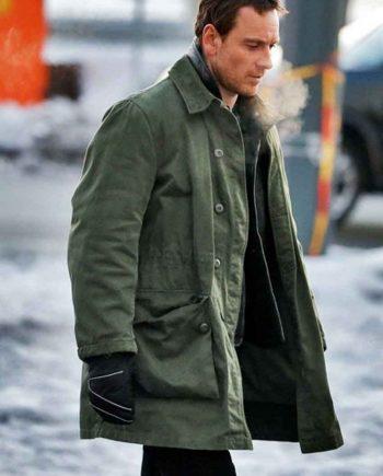 Micheal Fessbender green coat