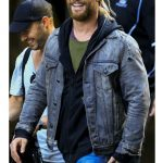 Chris Hemsworth Grey Denim Jacket