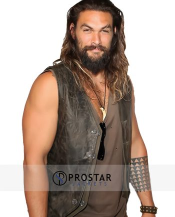 Jason Momoa Leather Vest