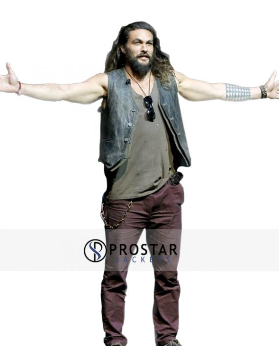 Jason Momoa Vest: Jason Momoa Justice League Leather Vest