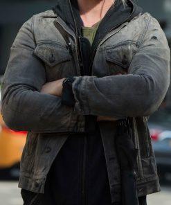 Chris Hemsworth Grey Denim Jacket