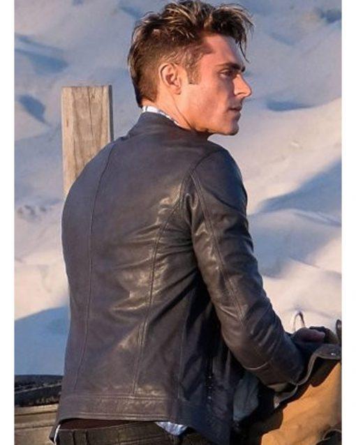 Baywatch Blue Leather Jacket