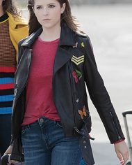 Anna Kendrick Pitch Perfect 3 Black Embroidered Jacket