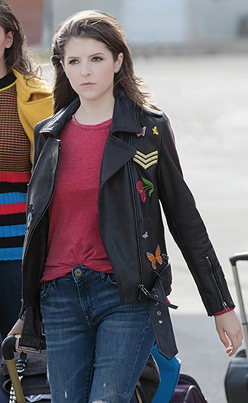 Pitch Perfect 3 Black leather Jacket