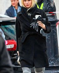 Red Sparrow jennifer lawrence Black Coat