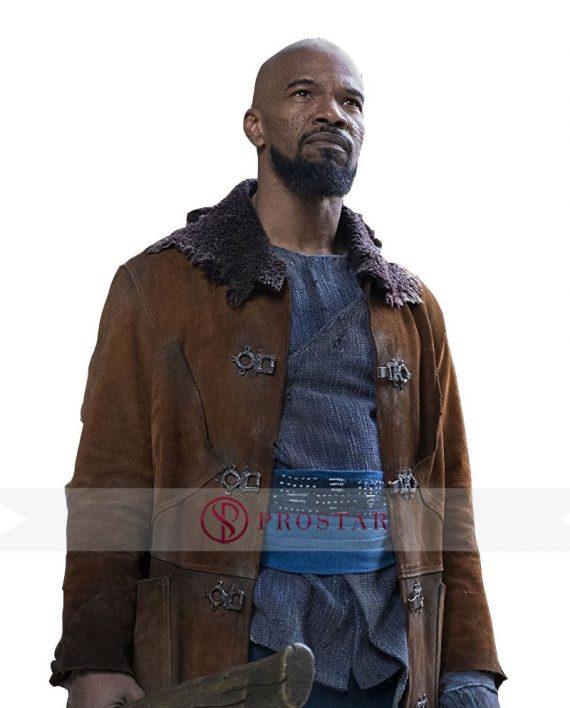 Jamie Foxx Brown Suede Coat