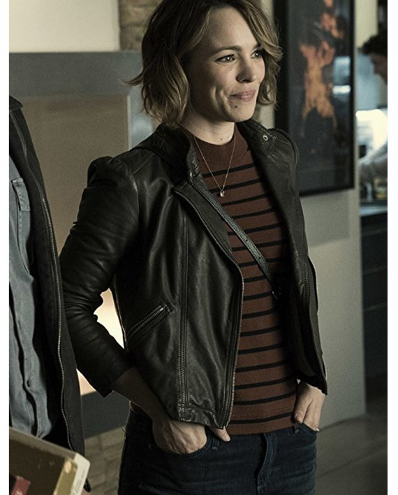 Rachel McAdams Leather Jacket from Game Night